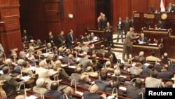 Zasedanje gornjeg doma egipatskog parlamenta