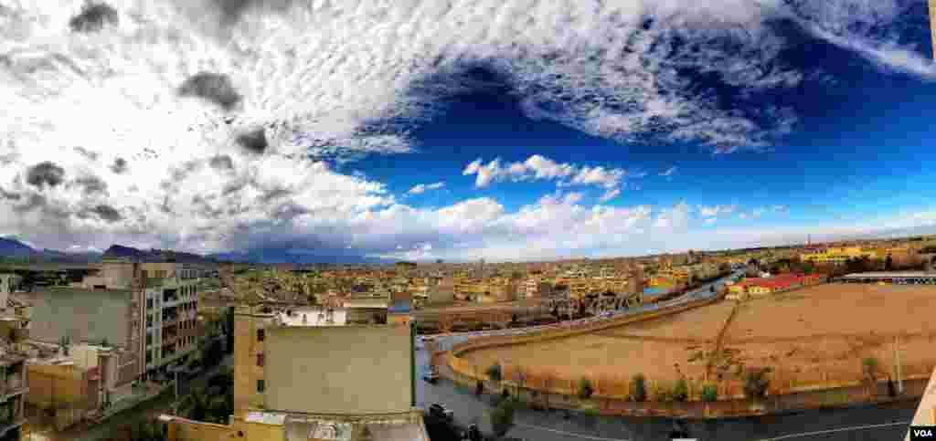نمایی از بافت جدید شهر یزد ،پس از باران پاییزی عکس: دیوید (ارسالی شما)