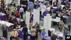 Une foire pour chômeurs dans l'Ohio (mars 2011).
