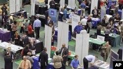 지난 3월 미국 클리블랜드 주에서 열린 구인구직행사. (자료사진)
