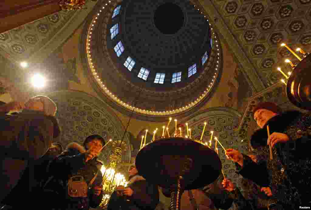 Рождественское богослужение в Казанском соборе в Санкт-Петербурге