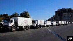 آژانس امور انساندوستانه سازمان ملل و صلیب سرخ بین الملل موفق شدند روز دوشنبه به غوطه شرقی دسترسی و به ساکنان آن امدادرسانی کنند.