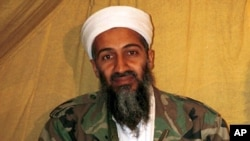 Foto arsip tanpa tanggal ini menunjukkan pemimpin Al-Qaida Osama bin Laden di Afghanistan