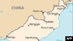 北韩地理位置图
