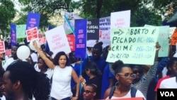 Marcha contra criminalização do aborto em Luanda