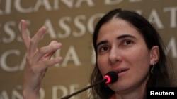 Yoani Sánchez dijo que los cambios en la relación entre Cuba y Estados Unidos son esperanzadores