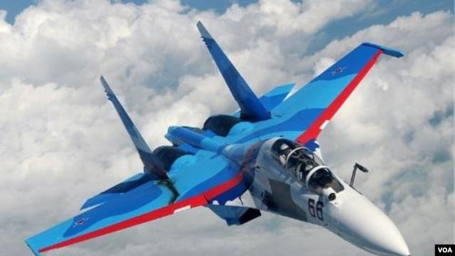 Pesawat tempur Rusia, Sukhoi Su-30 (foto: dok).