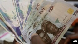 Mata uang Nigeria, naira turun 30% terhadap dolar pada perdagangan hari Senin 20/6 (foto: ilustrasi).