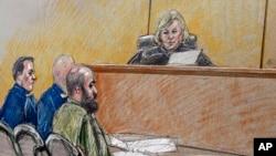 美国陆军精神病医生被控于2009年11月在得克萨斯州胡德堡陆军基地杀害13人的法庭提审。