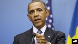 Барак Обама. Стокгольм, Швеция. 4 сентября 2013 г.