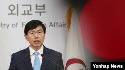 조준혁 한국 외교부 대변인. (자료사진)