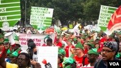 24일 국제에이즈회의가 열린 워싱턴 DC 회의장 주변의 에이즈 근절 캠페인.