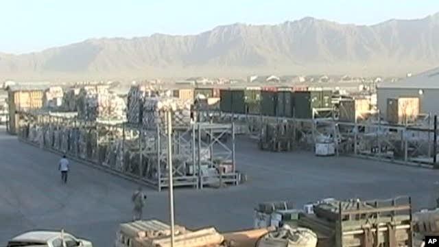 Scene at Bagram Air Base, Afghanistan