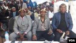 INkosi uBulelani Lobhengula Mzilikazi Khumalo wenza imbizo eGoli.