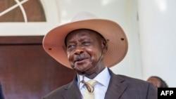 Président ya Ouganda Yoweri Museveni na Entenbe, Ouganda, 9 novembre 2019.