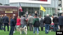 FILE - A Tea Party rally in Kentucky. Many conservatives have rejected what they viewed as the Tea Party's extremism.