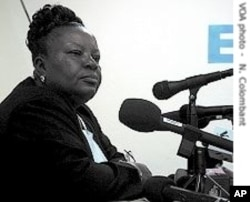 Frances Johnson-Morris as Liberia's Elections Commission Chair in 2005