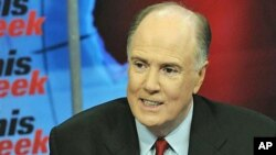 National Security Adviser Tom Donilon is interviewed on ABC's 'This Week,' May 8, 2011 (file photo)