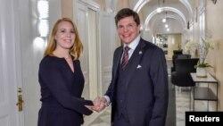 Serokê parlamana Swêdî Andreas Norlen û rêbera Partîya Navendî Annie Loof