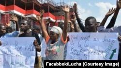 Une manifestation du mouvement LUCHA (Lutte pour le changement) à Goma, Nord-Kivu, 19 avril 2017. (Facebook/Lucha)