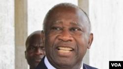 Presiden Pantai Gading yang dinyatakan kalah pada pemilu November lalu tetapi menolak menyerahkan kekuasaan, Laurent Gbagbo.