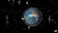 NASA mengatakan, terdapat setengah juta sampah antariksa, dengan, 20 ribu di antaranya lebih besar daripada buah apel (foto: ilustrasi).