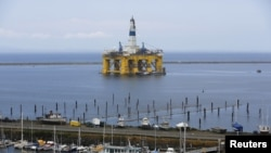 A Shell Oil Company drilling rig is shown in Port Angeles, Washington, May 12, 2015