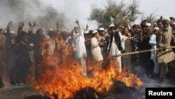 阿富汗出現反美示威