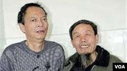 朱承志在李旺陽(左)生前到醫院探視 (網絡圖片)