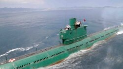 미국의 정치·군사전문 웹진인 '워싱턴 프리 비컨'이 26일 잠수함 발사 탄도미사일(SLBM)을 북한이 보유하고 있다는 관측을 제기했다. 지난 6월 북한 조선중앙통신이 김정은 국방위원회 제1위원장이 동해 잠수함 부대인 제167군부대를 방문, 직접 탑승해 훈련을 지도했다고 보도한 잠수함.