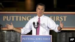 Capres partai Republik, Mitt Romney mengkritik kebijakan energi Presiden Barack Obama saat mengakhiri kampanye kelilingnya (foto: dok).