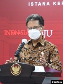 Menkes Budi Gunadi Sadikin dalam telekonferensi pers di Istana Kepresidenan , Jakarta, Senin (7/6) mengatakan sekolah Tatap muka dilakukan secara Terbatas (biro pers).