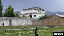 په ایبټ آباد کې د بن لادن کور چې اوس ړنګ شوی