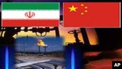 中國是伊朗石油最大買主 圖中乃伊中兩國國旗