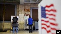 Vote pour les primaires du 5 mars 2016 aux Etats-Unis. (AP Photo/David Goldman)