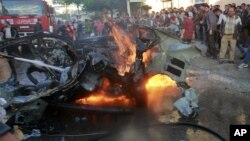 Машина, в которой находился Ахмед аль-Джабари
