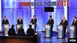 Debat Kandidat Capres Partai Republik Amerika, New Hampshire (8/1).