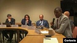 Calisto do Nascimento, pres. do CNJ STP participando do Fórum da Juventude do Conselho Econômico e Social da ONU