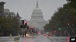 شهر واشنگتن در مسیر توفان سندی