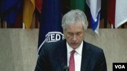 Wakil Menlu AS William Burns membuka pertemuan antariksa internasional di Washington DC, Kamis (9/1).