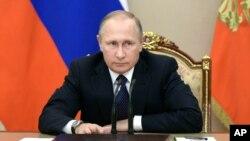俄羅斯總統普京9月26日於克里姆林宮。