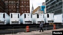 New York'ta kurulan geçici morglar