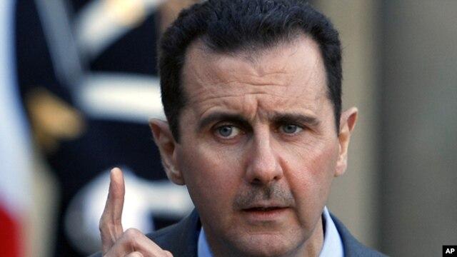 El presidente sirio, Bashar al-Assad, dice que la derrota no existe en el diccionario del ejército sirio.