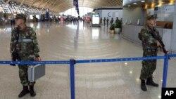Терминал международного аэропорта «Пудун». Шанхай, КНР. 12 июня 2016 г.