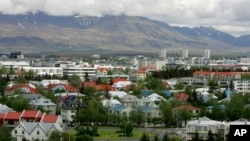 FILE - A view across Reykjavík in Iceland from Öskjuhlíd Hill.