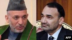 حامد کرزی رئیس جمهور افغانستان-عطا محمد نور والی بلخ
