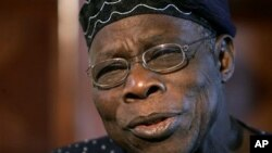 Former Nigerian President Olusegun Obasanjo (file photo)