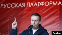 FILE - Russian lawyer and blogger Alexei Navalny.