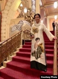 Kieu Chinh in a favourite national dress