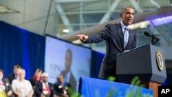 Predsednik Obama govori na 116. nacionalnoj konvenciji veterana u Pitsburgu.